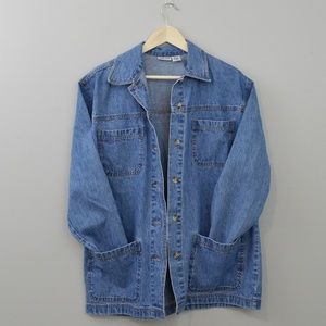 90s Vintage Oversized Painter's Jean Jacket
